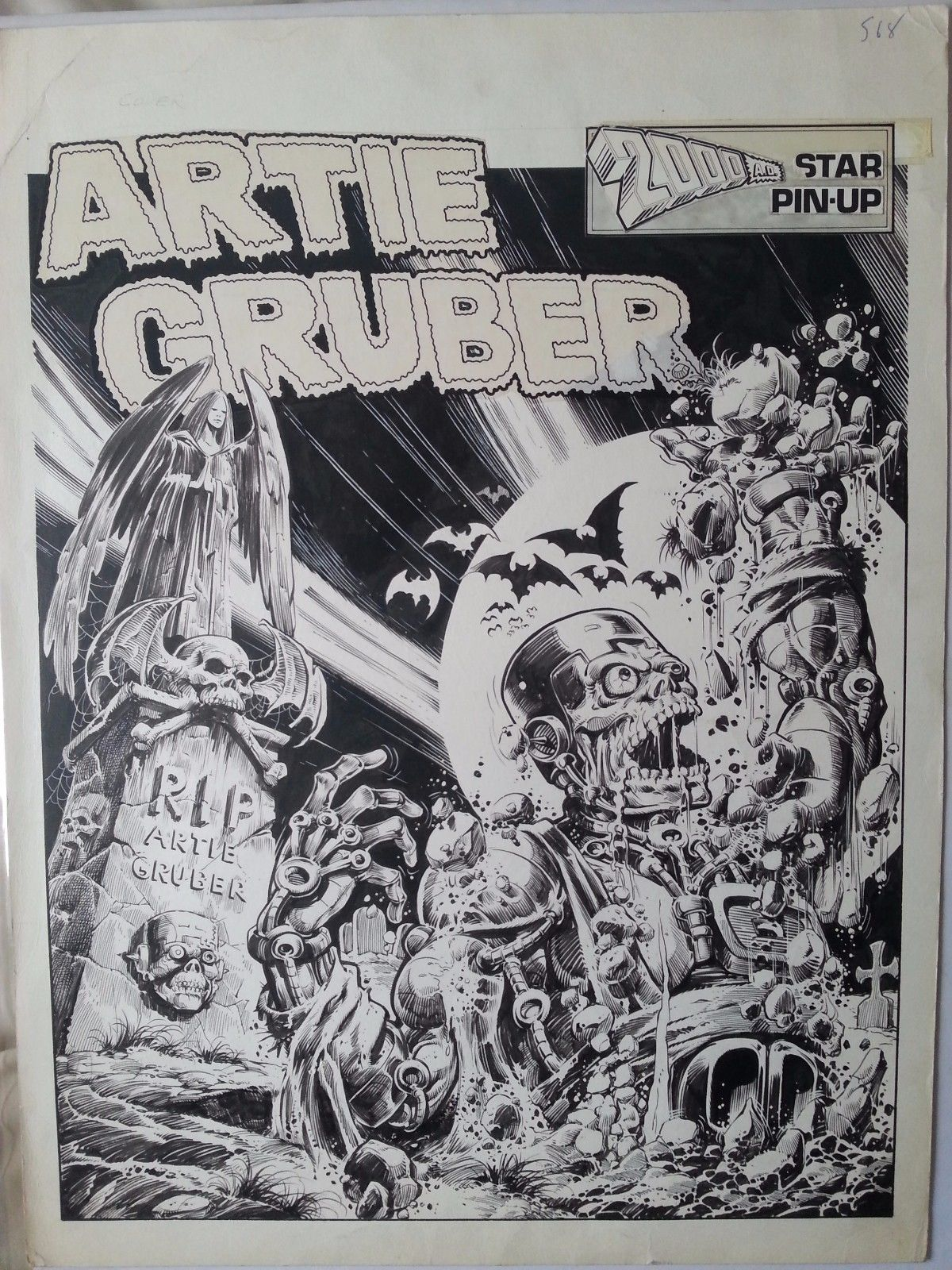 2000AD Prog 74 Pin-Up Art - Harlem Heroe Artie Gruber