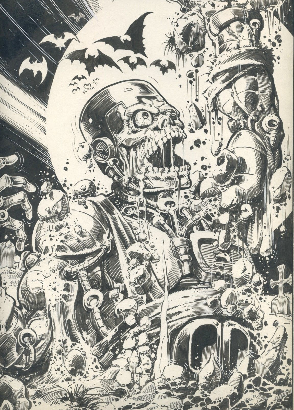 2000AD Prog 74 Pin-Up Art - Harlem Heroe Artie Gruber DETAIL