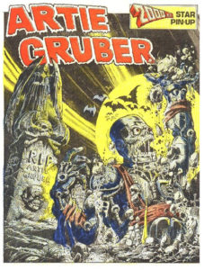 The Artie Gruber pin up as it was published on the back cover of 2000AD Prog 74