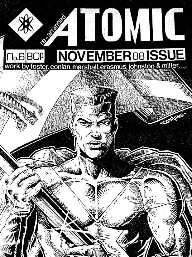 The cover of Atomic Issue 6, featuring a Captain Scotland cover by Hugh Canning