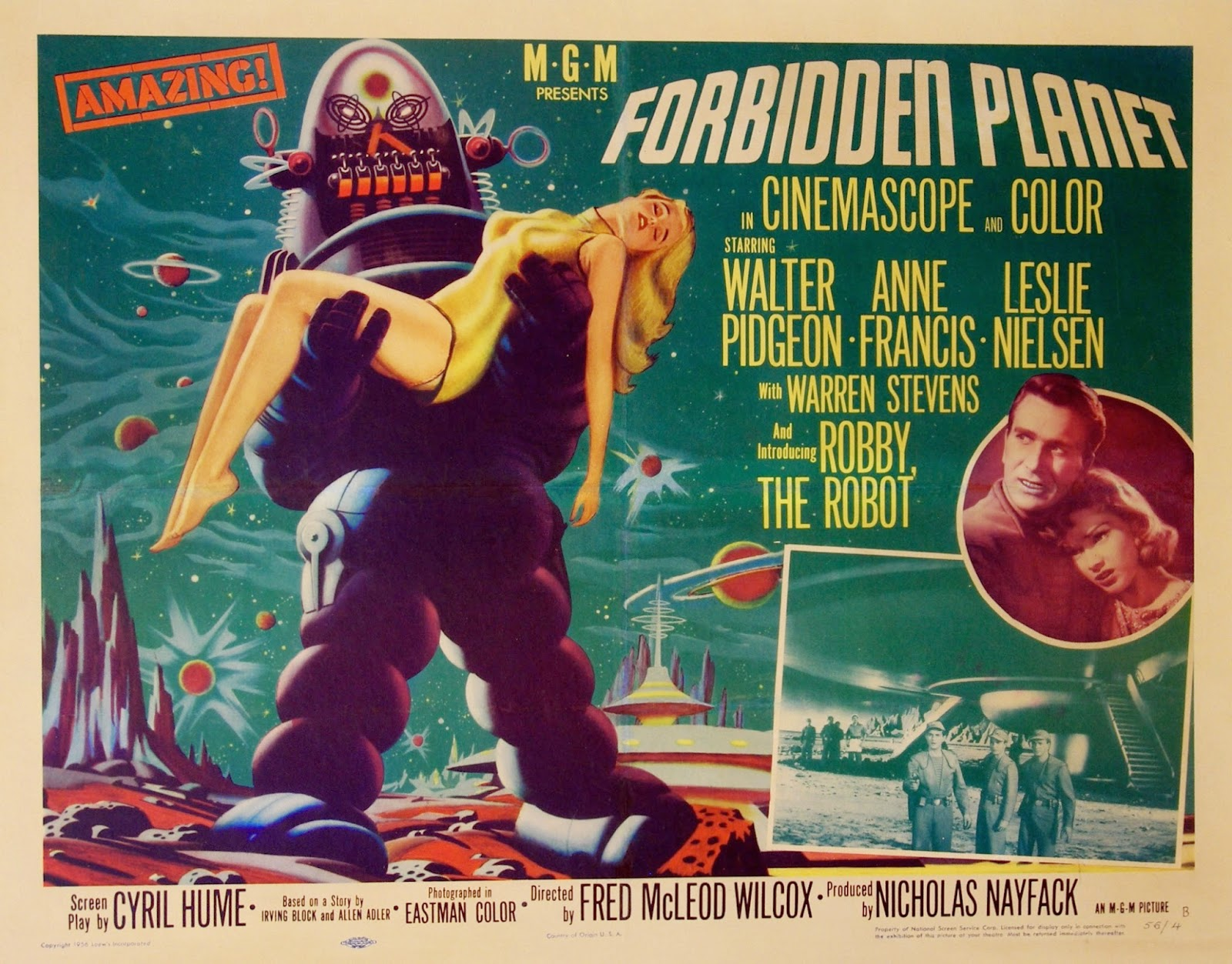 Forbidden Planet Quad Poster