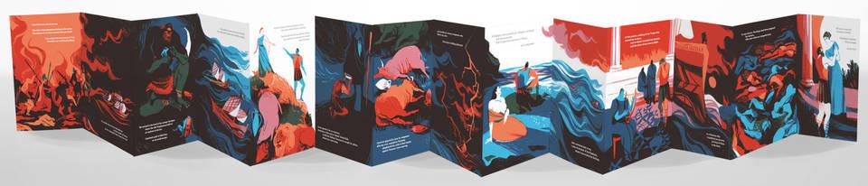 2017 Student Illustrator of the Year, Beatriz Lostalé Seijo, 'The Odyssey', MA Children's Book Illustration, Anglia Ruskin University, Cambridge School of Art