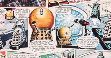 Daleks original artwork (1965) by Ron Turner for TV Century 21 No 51 SNIP