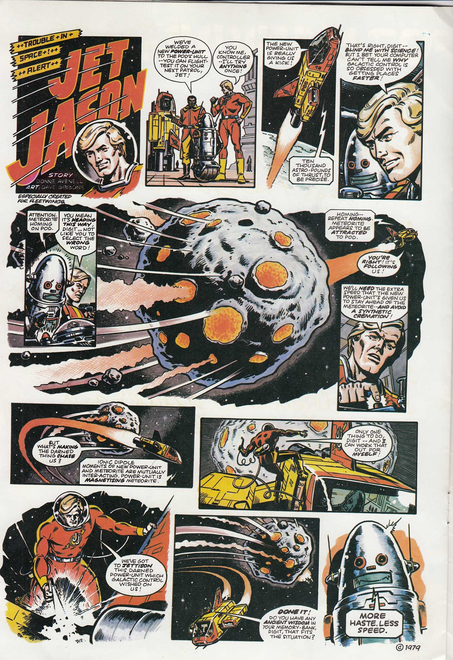 """The first episode of """"Jet Jason"""" for Fleetwings - July 1979 edition"""