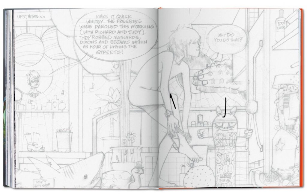Jamie Hewlett monograph - Sample Spread