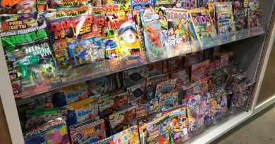 The main selection of kids' comics. All of Eason's shelves aren't too high and are within reach of children, unlike some supermarkets where the shelves can even tower above adults.