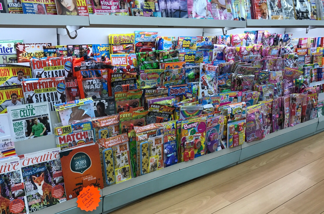 With only one or two staff on at any one time, this busy local newsagent does a fantastic job on this front!