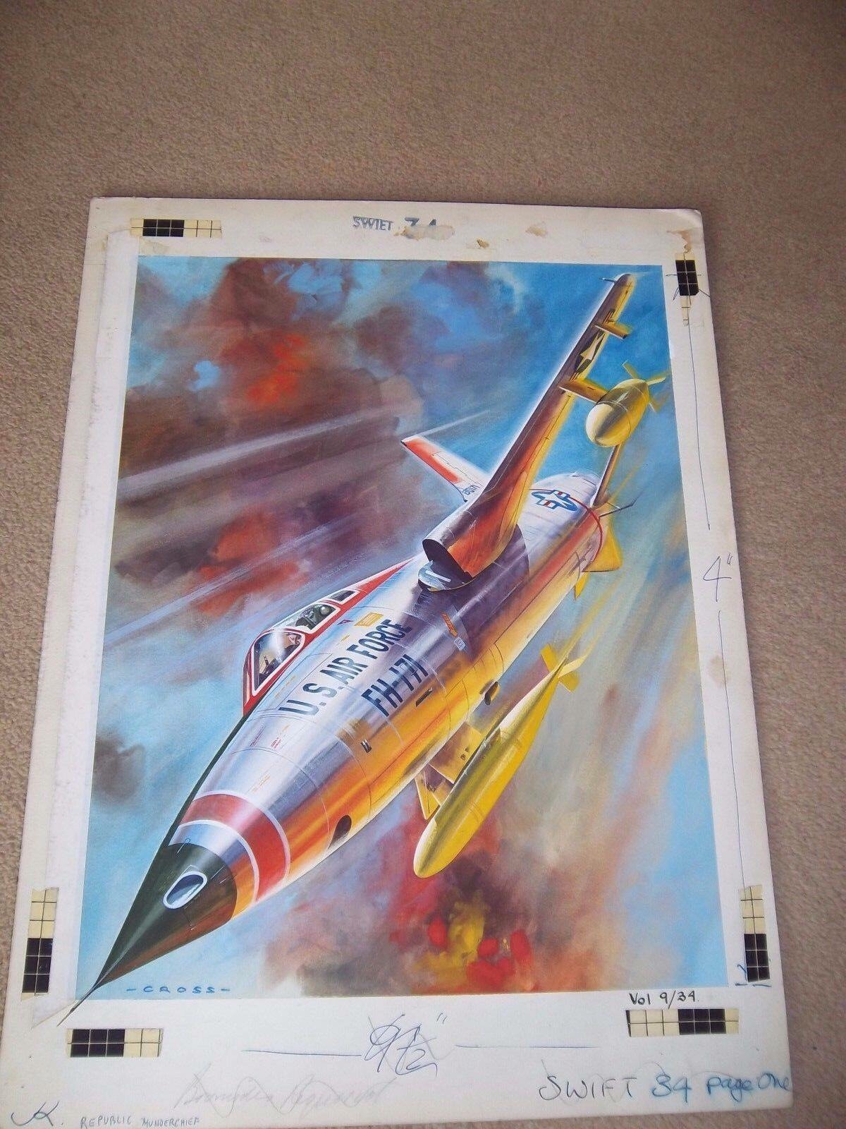 Swift Volume 9 Number 34 (i.e. the 34th week of 1962), at top of article, is a Republic F-105 Thunderchief, a fighter-bomber of the US Air Force