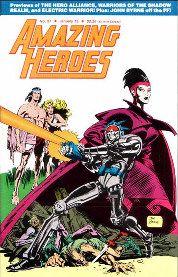 Amazing Heroes Issue 87 - cover by Jim Baikie