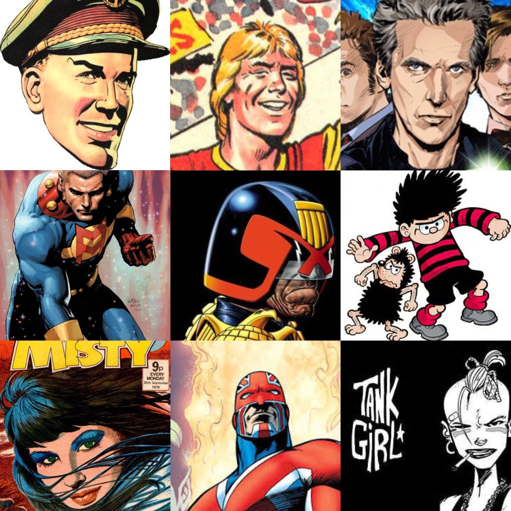 A montage of just some of the characters Comic Scene UK will cover.