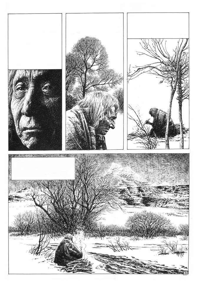 "Art for ""Ley De Vida"" from Pilote 61, based on a story by Jack London"