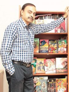S Vijayan,publisher of Lion and Muthu Comics