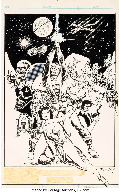 Star Wars Weekly #1 - Pin-Up art by Tony DeZuniga