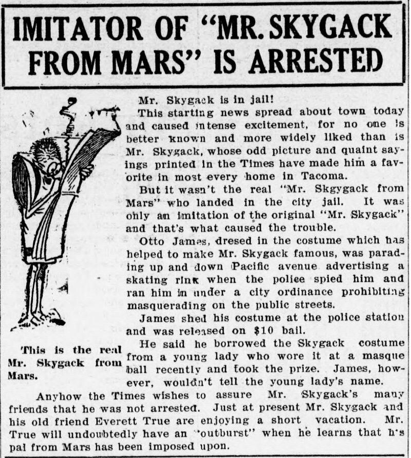 Mr Skygack Impersonator Arrested