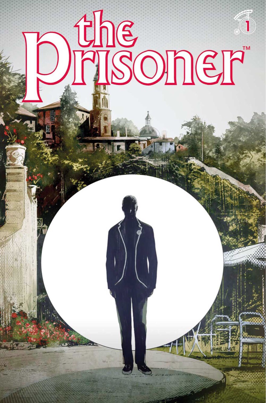The Prisoner #1 Cover D: Colin Lorimer.  The Prisoner ™ and © ITC Entertainment Group Limited. 1967, 2001 and 2018. Licensed by ITV Ventures Limited.  All rights reserved.