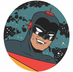 Captain Cosmic by Andy W Clift - Headshot