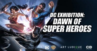 DC Dawn of Super Heroes Exhibition Banner