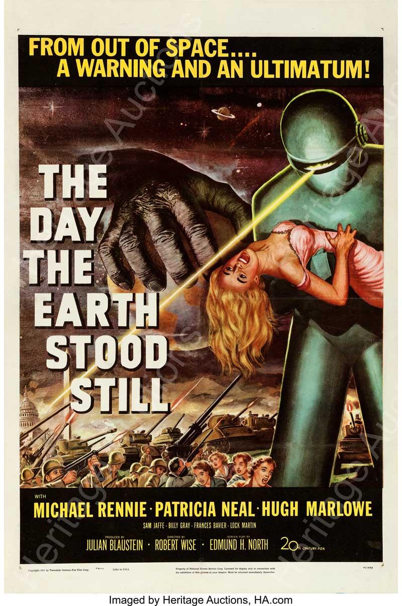 "The Day the Earth Stood Still (20th Century Fox, 1951). One Sheet (27"" X 41"")."