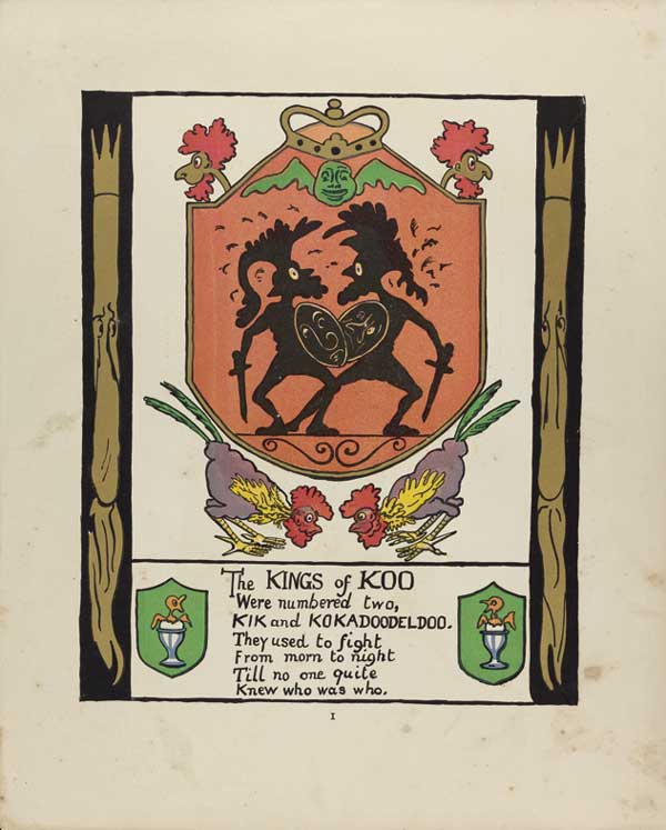 """Art by Marie Duval for """"The Kings of Koo"""" Queens and Kings and Other Things, p82. Chato and Windus, London."""
