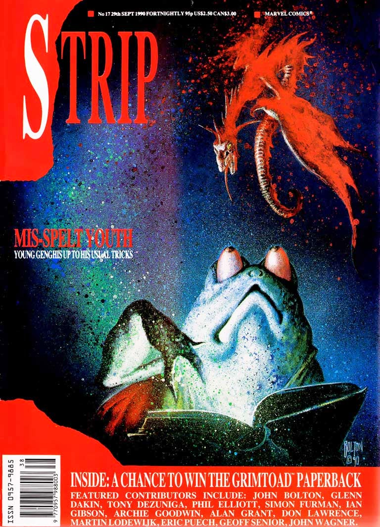 Genghis Grimtoad on the cover of Marvel UK's STRIP Issue 17