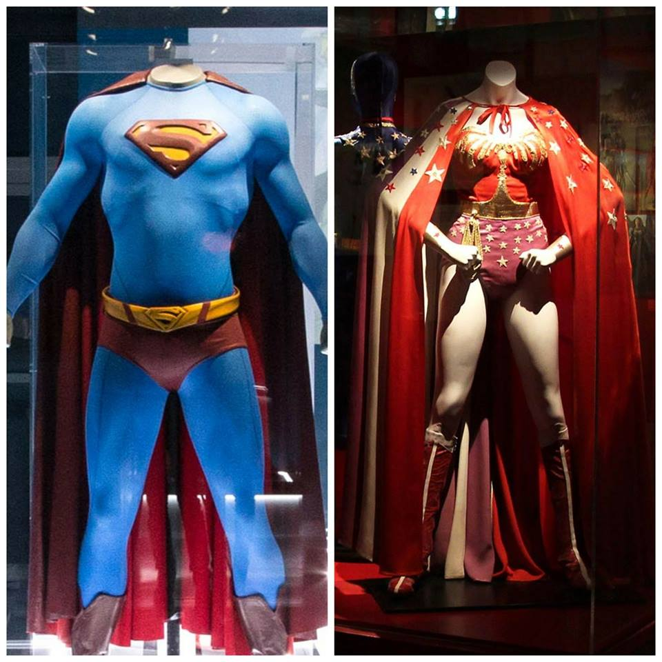 On display as part of the DC Exhibition: Dawn of the Super Heroes are many original costumes, including the famous Superman cape worn by Christopher Reeve in the 1970s movies and Lynda Carter's iconic Wonder Woman costume from the 1970s TV show