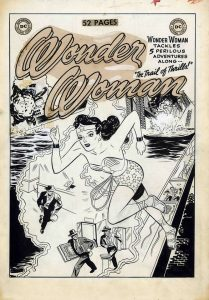 Cover art for Wonder Woman #39 by Harry G. Peter, published in 1950