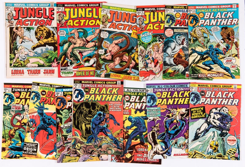 Jungle Action (1972-75) #1-13 featuring Black Panther