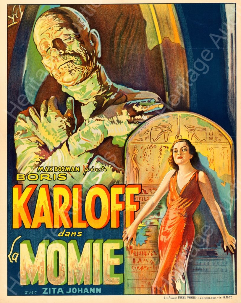 """The Belgian version of the film poster for """"The Mummy"""" starring Boris Karloff. Image: Heritage Auctions"""