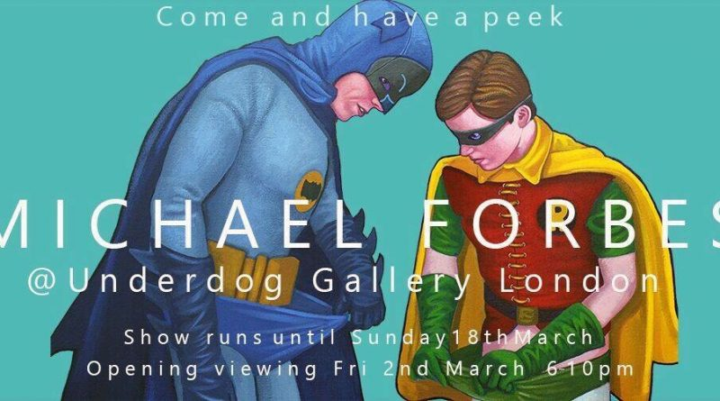 Michael Forbes: Come and have a Peek Exhibition Poster SNIP
