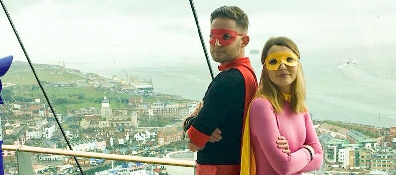 Portsmouth Comic Con - Captain Comic Con and Girl Wonder SNIP