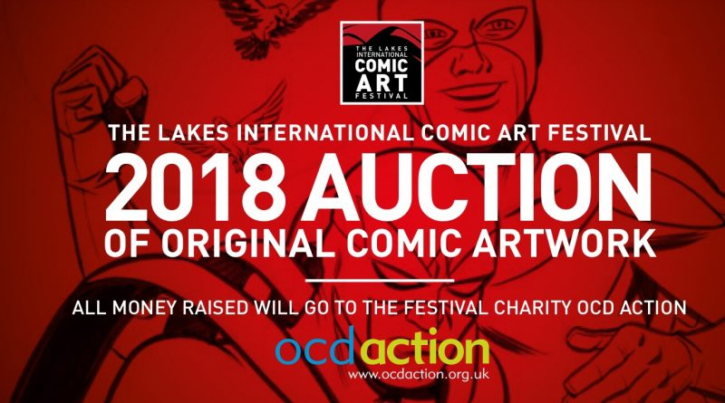 Lakes International Comic Art Festival Comic Auction 2018 Banner
