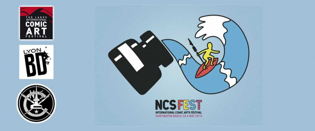 NCSFest 2019 Postcard. Art by Luke McGarry