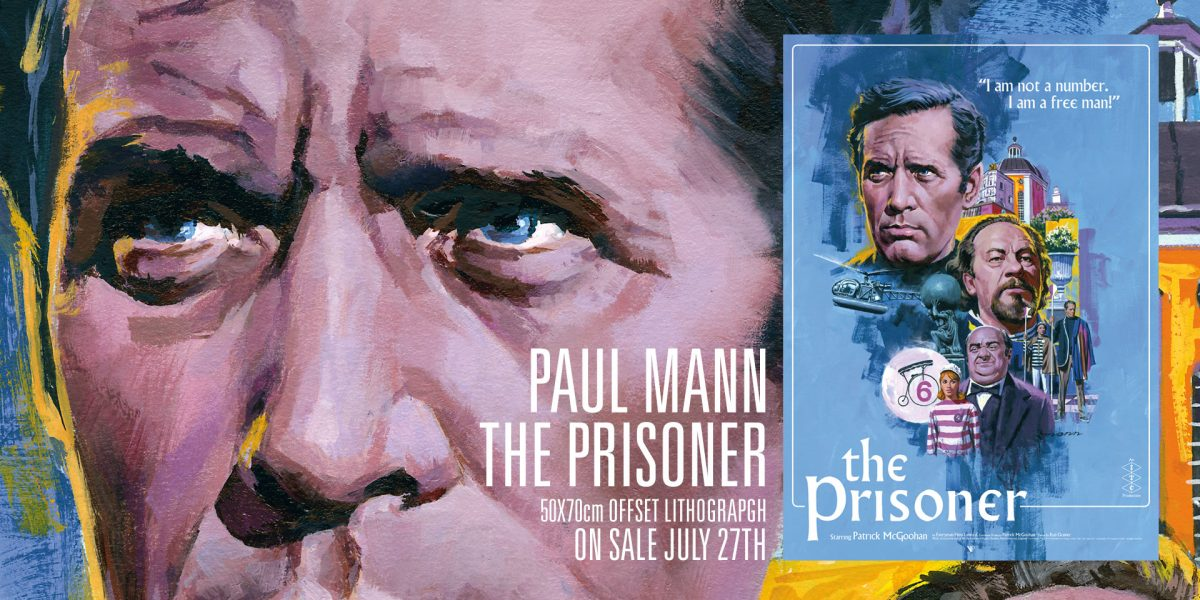 The Prisioner by Paul Mann Vice Press Poster 2018 SNIP