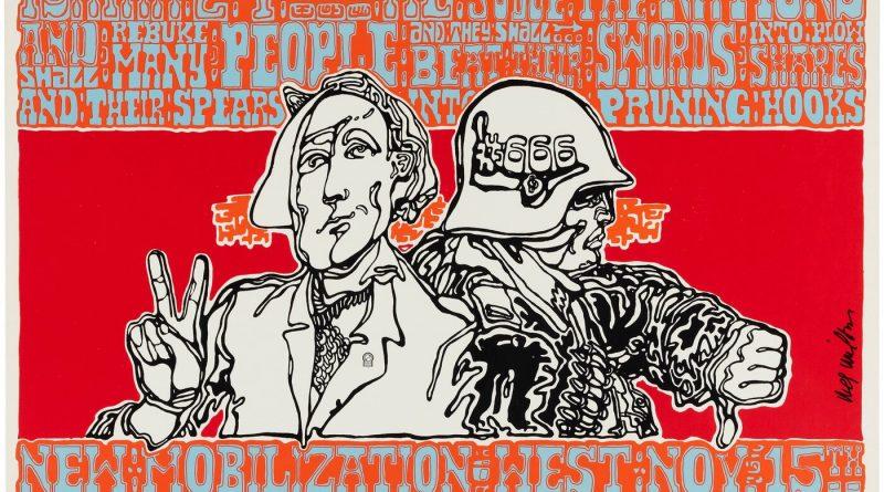 """New Mobilization West"" - 1969 Anti-Vietnam War poster by Wes Wilson"