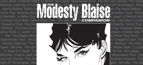The Modesty Blaise Companion Expanded Edition - Cover - SNIP