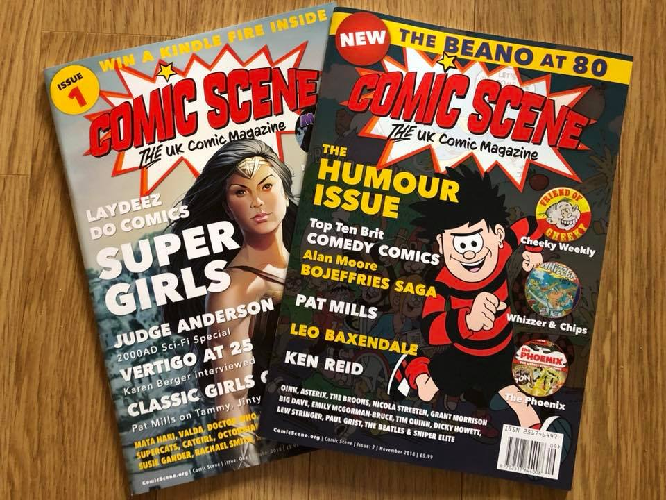 Comic Scene UK Issues 1 and 2