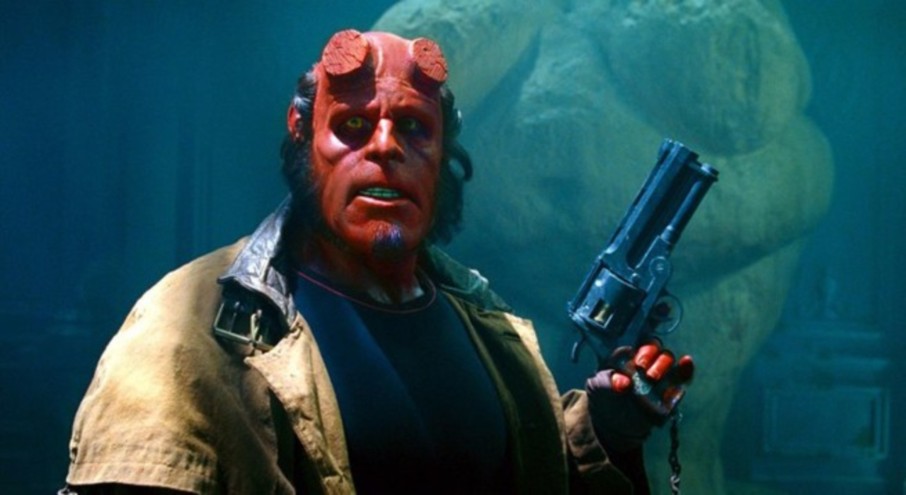 Ron Perlman in the 2004 Hellboy, directed by Guillermo del Toro