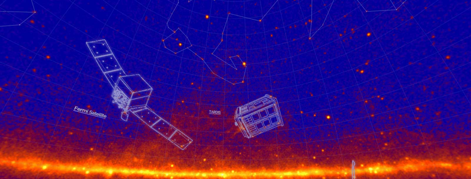New, unofficial constellations appear in this image of the sky mapped by NASA's Fermi Gamma-ray Space Telescope. Fermi scientists devised the constellations to highlight the mission's 10th year of operations. Fermi has mapped about 3,000 gamma-ray sources — 10 times the number known before its launch and comparable to the number of bright stars in the traditional constellations. Credits: NASA