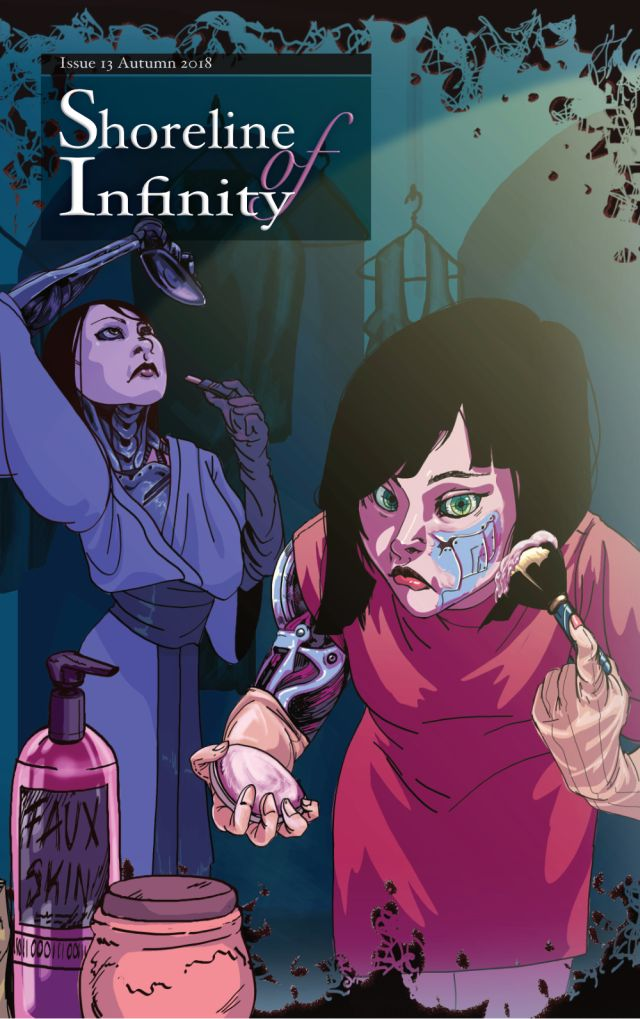 Cover to Shoreline of Infinity #13, art by Siobhan McDonald