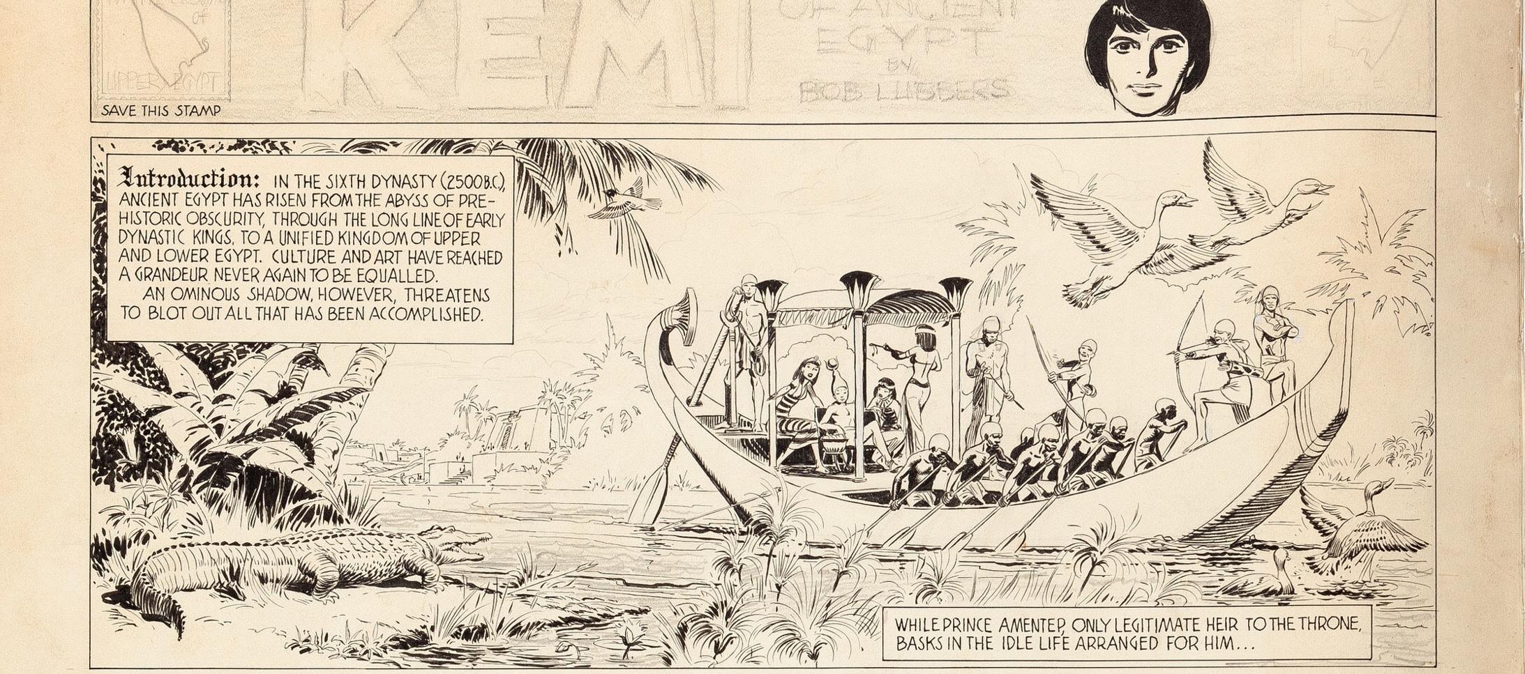 "Comics That Never Were: Bob Lubbers ""Kemi of Ancient Egypt"""