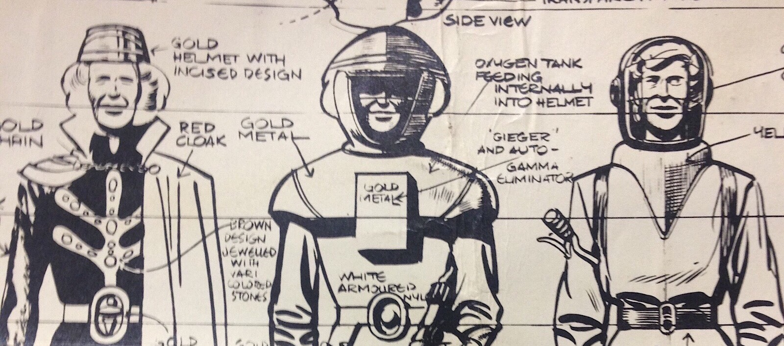 Dan Dare Concept art for the original Eagle SNIP