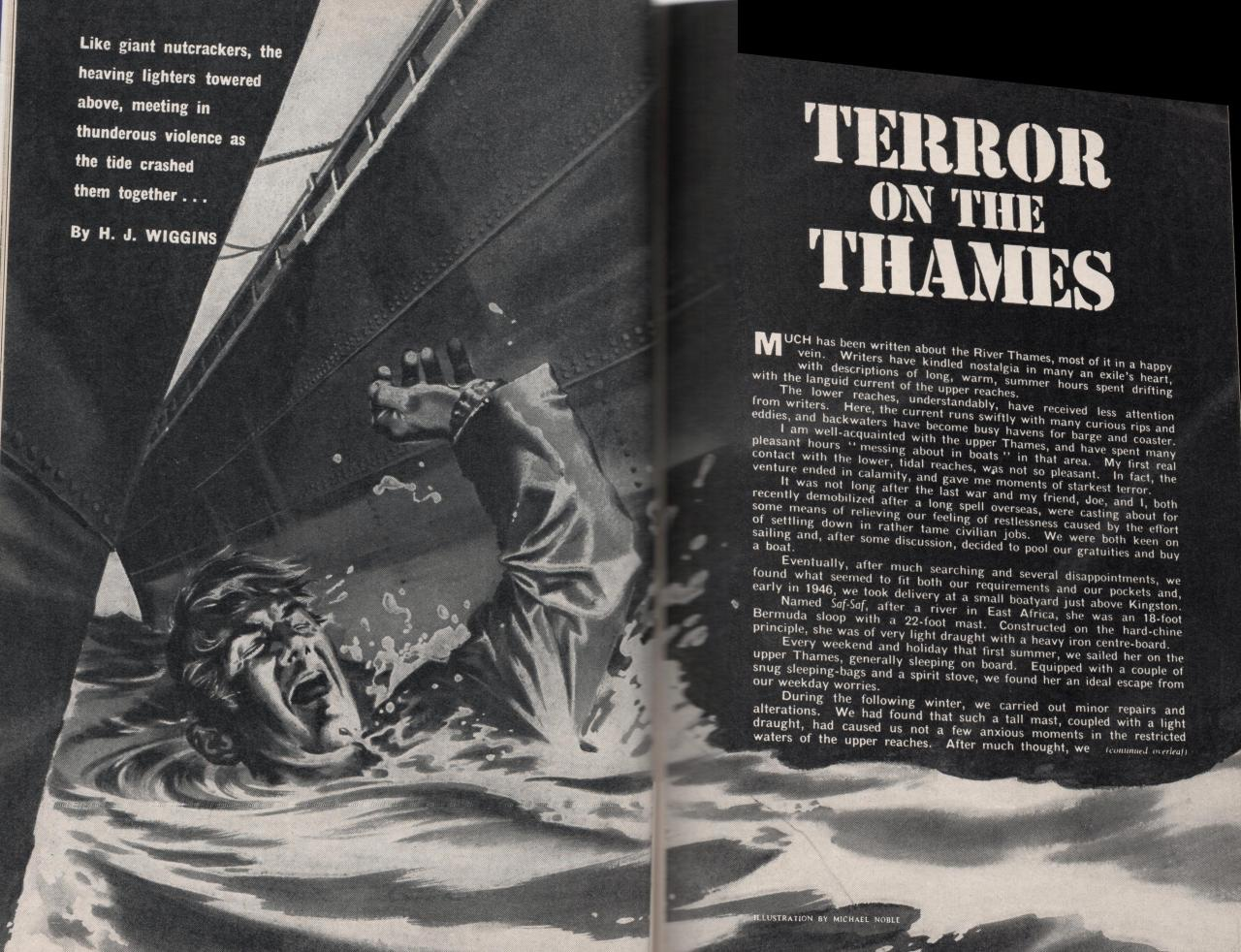 "Wide World October 1962 p234-235 ""Terror on the Thames"" by H. J. Higgins"