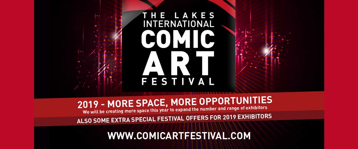 Lakes International Comic Art Festival 2019 - Comics Clock Tower
