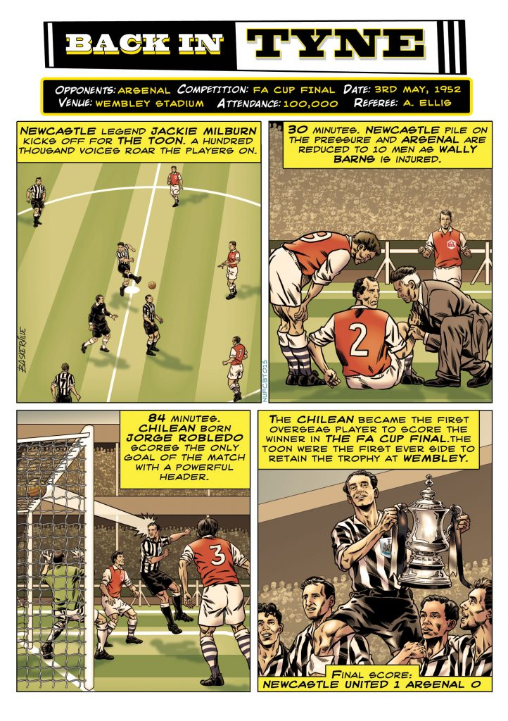 Newcastle United strip by Stephen Baskerville