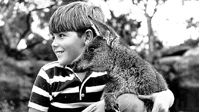 Skippy the Bush Kangaroo with actor Garry Pankhurst, who played Sonny