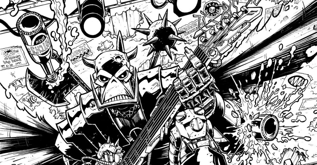 Deaths Head 2019 #1 Cover Inks by Nick Roche SNIP