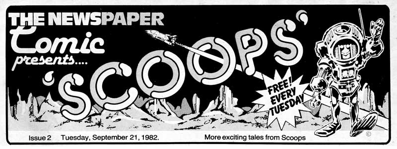 SCOOPS - The Newspaper Comic Logo