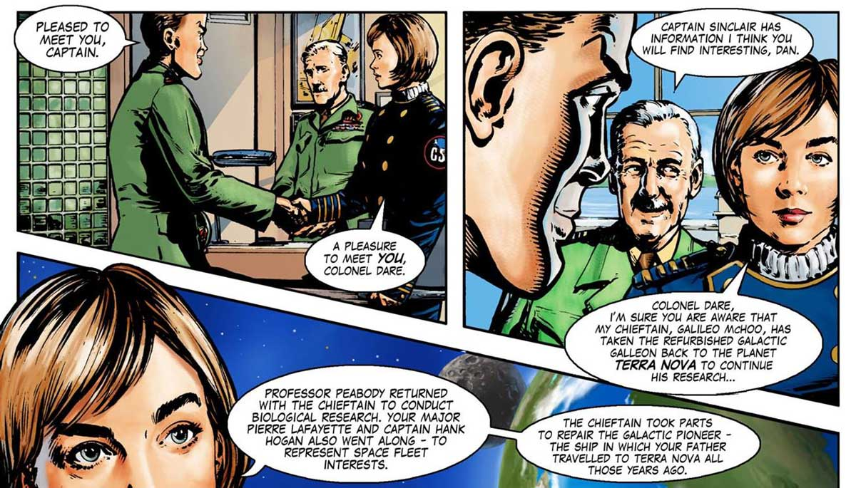Dan Dare - Return toTerra Nova by John Ridgway and Nick Spender - SNIP