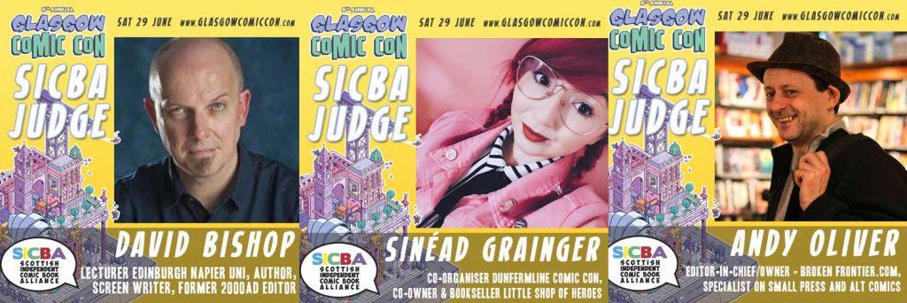 SUCBA 2019 - Judges David Bishop, Sinéad Grainger and Andy Oliver
