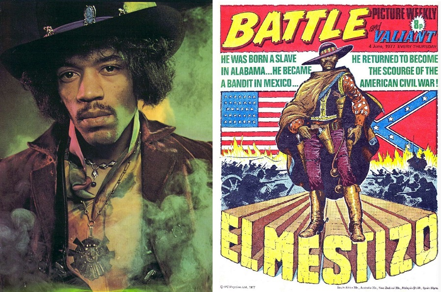 Jimi Hendrix and El Mestizo Composite